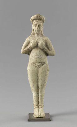 Suse. Figurine de terre cuite médio-élamite (XIVe - XIIe siècle avant J.-C.) Sb 8206 Louvre, Département des Antiquités Orientales, Paris, France